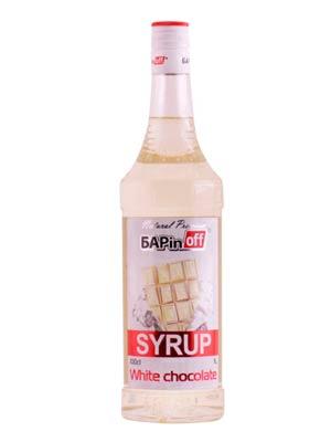 Сироп Баринофф Белый шоколад 1 л