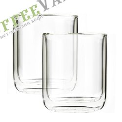 VIVA Classic Термобокал (комлект 2шт) 0,1 л (V37300) Прозрачный
